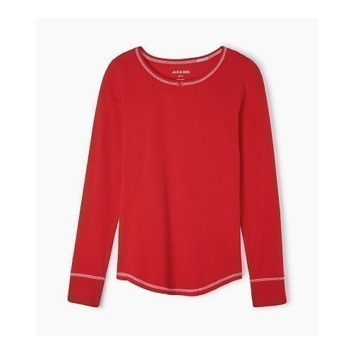 Women's Stretch Jersey Top Holiday Red Thumbnail