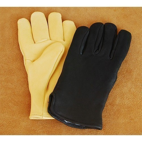 Black Thinsulate Lined Deerskin Glove  Thumbnail