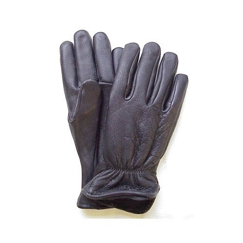 Black Fleece Lined Deerskin Glove Thumbnail