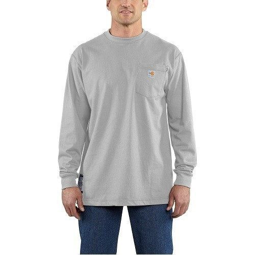 3X-4X Flame-Resistant Force™ Cotton L/S Tee Thumbnail