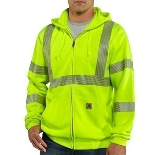 High-Visibility Zip-Front Class 3 Sweatshirt Thumbnail