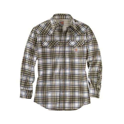 3X-4X Flame Resistant Snap Front Plaid Shirt Thumbnail