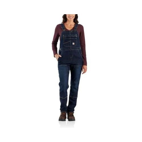 Women's Denim Double Front Bib Overall Thumbnail