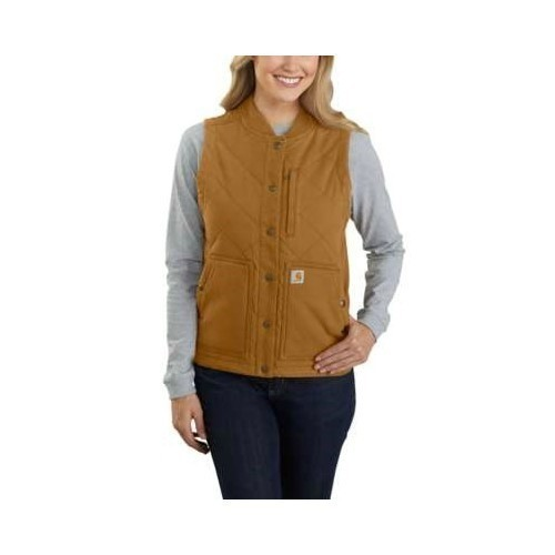 Women's RF Canvas Ins Rib Collar Vest Thumbnail