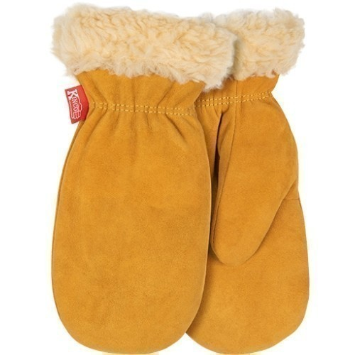 Child Lined Suede Deer Mitt Thumbnail