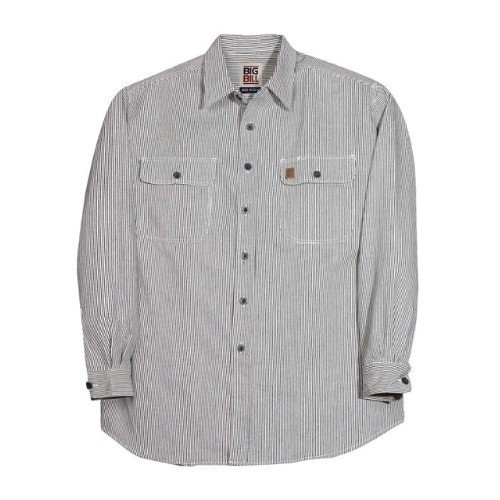 2X-4X Button Long Sleeve Hickory Shirt Thumbnail