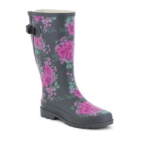 Women's Floral Home Vari-Fit Rubber Boot Thumbnail