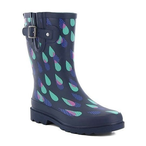 Women's Dotty Downpour Mid Rubber Boot Thumbnail