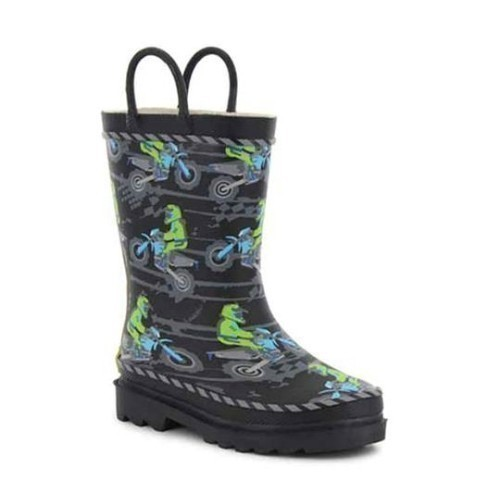 Jr Boys Motocross Puddle Rubber Boot Thumbnail