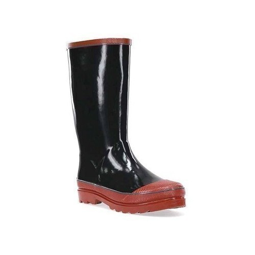 Youth Solid Black/Red Puddle Boot Thumbnail
