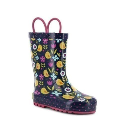 Jr Girls Chick Floral Puddle Rubber Boot Thumbnail