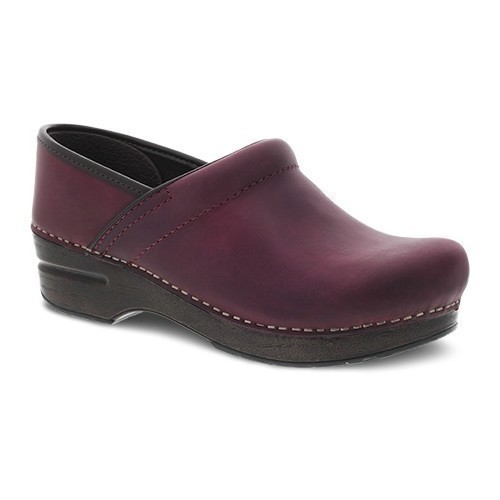 Women's Professional Plum Oiled Pull Up Clog Thumbnail