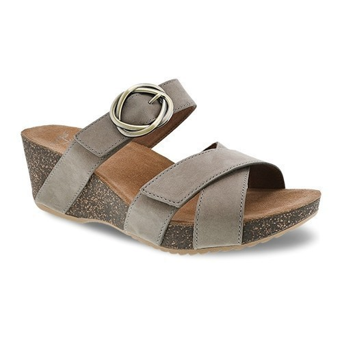 Susie Wedge Slide Taupe Thumbnail