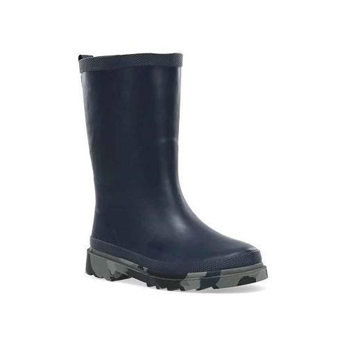 Youth Camo Sole Solid -Rain Boot - Navy Thumbnail