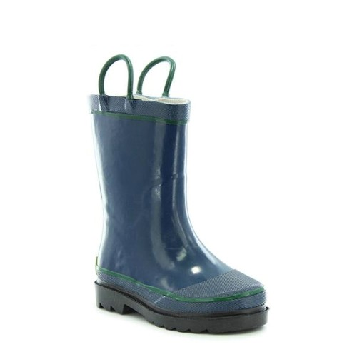 Youth Navy Solid Rain Boot Thumbnail