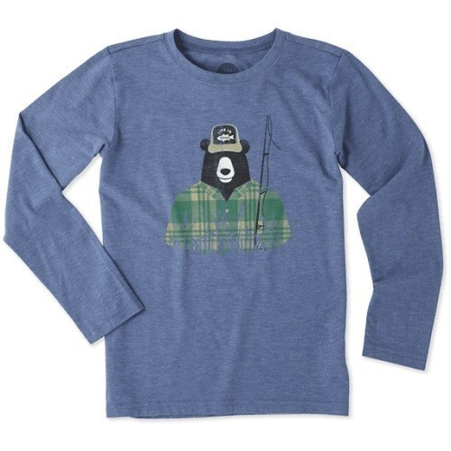 Boys Fisherbear Long Sleeve Cool Tee Thumbnail