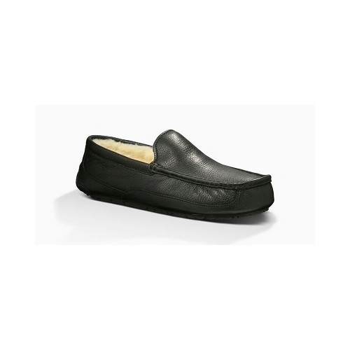 Ascot Leather Slipper Black Thumbnail
