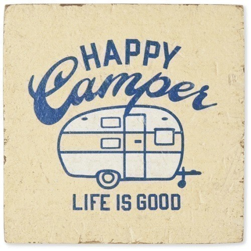 Happy Camper Small Wooden Sign Thumbnail
