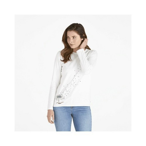 Women's Flower Love LS Crusher Tee Thumbnail