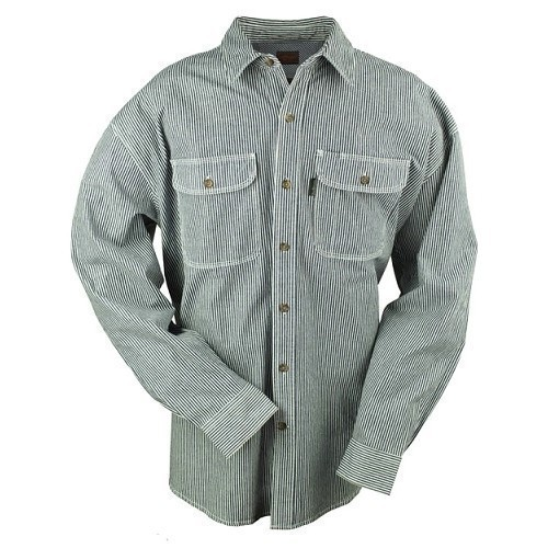 3X-4X Button Front Hickory Shirt Thumbnail