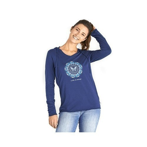 Women's LIG Butterfly Coin Hooded LS Smooth T Thumbnail
