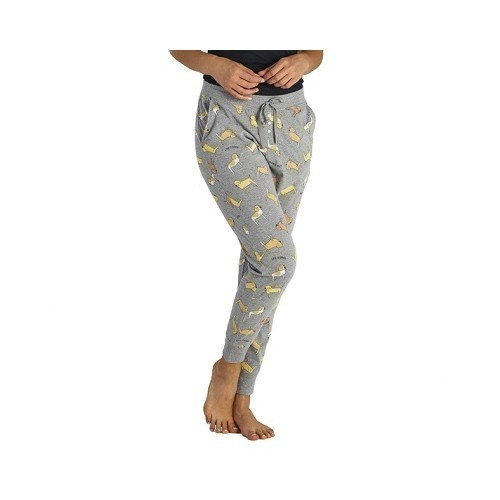 Women's LIG Dog Print Snuggle Up Sleep Jogger Thumbnail