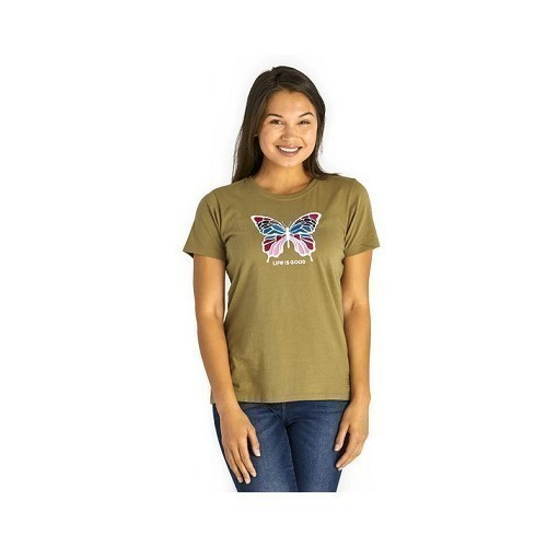 Women's Colorful Butterfly Crusher Tee Thumbnail