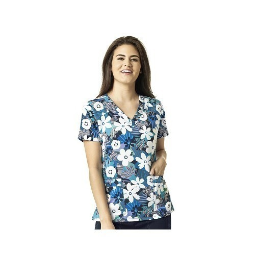 2-3X Women's WonderWink V-Neck Print Top Thumbnail