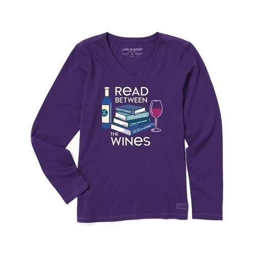 Women's Long-Sleeve Tee - Read Between Wines Thumbnail