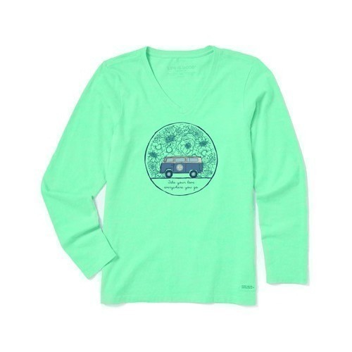 Women's Long-Sleeve Crusher Tee - Love Bus Thumbnail