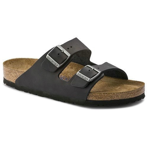 Women's Arizona Soft Blk Oiled Leather Sandal Thumbnail