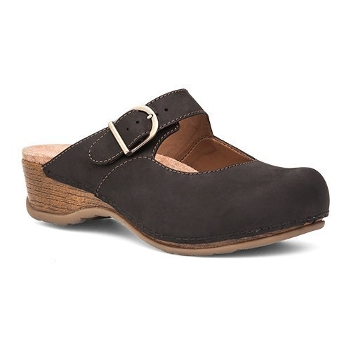 Martina Backless Clog Black Thumbnail