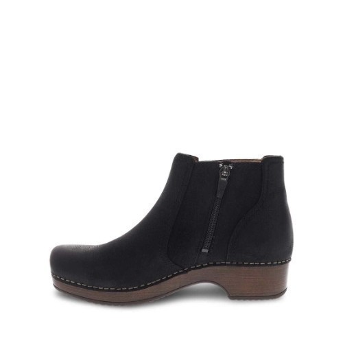 Women's Barbara Mid Boot Zip Black Nubuck Thumbnail