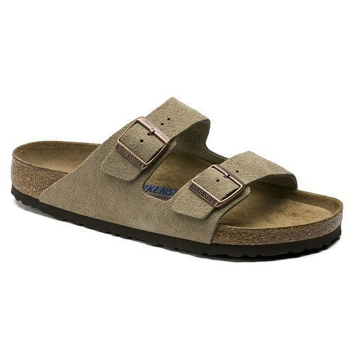 Women's Arizona Soft Taupe Suede Sandal Thumbnail
