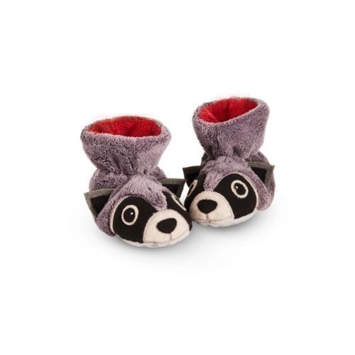 Baby Easy Critter Bootie Raccoon Thumbnail