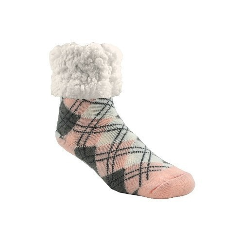 Womens Classic Argyle Blush Warm Socks Thumbnail