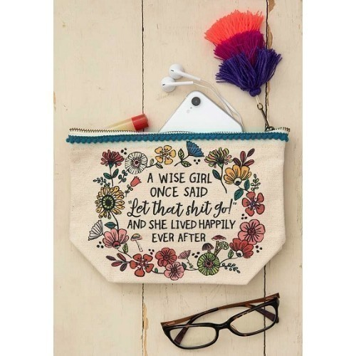 A Wise Girl Canvas Pouch Thumbnail