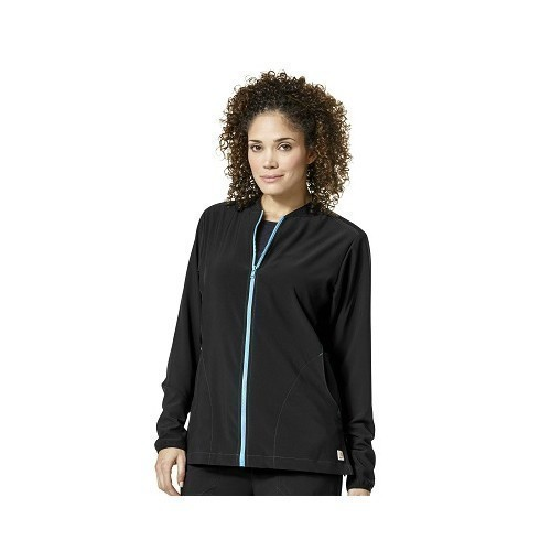 Women's 2X-3X Knit Mix Scrub Jacket Thumbnail