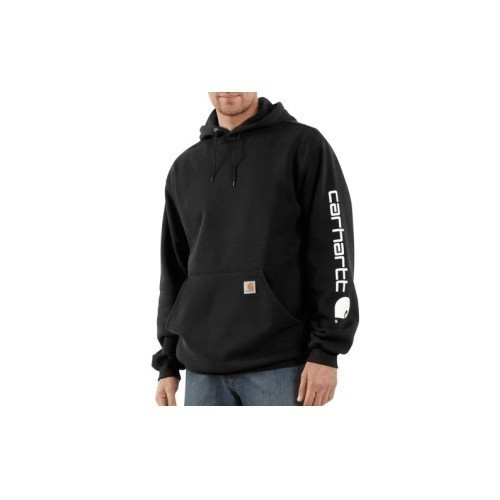 3X-4X Midweight Logo Sleeve Hooded Sweatshirt Thumbnail