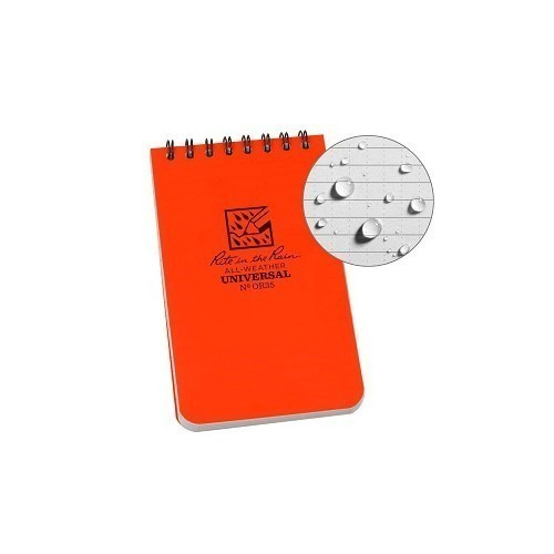 Pocket Top Spiral Orange Notebook Thumbnail