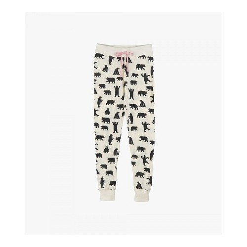 Women's Sleep Leggins Bears on Natural Thumbnail