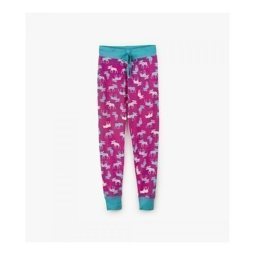 Women's Sleep Leggings Patterned Moose Thumbnail