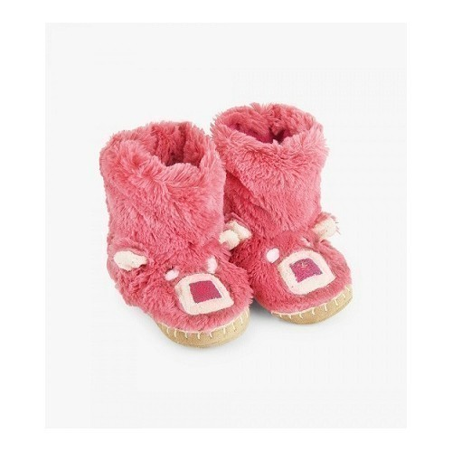 Kid's Slouch Slipper-Pink Bear Thumbnail