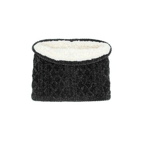 Women's Snood Cable Knit Black Chennille Thumbnail