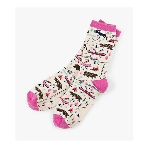 Women's Crew Socks Pretty Sketch  Thumbnail