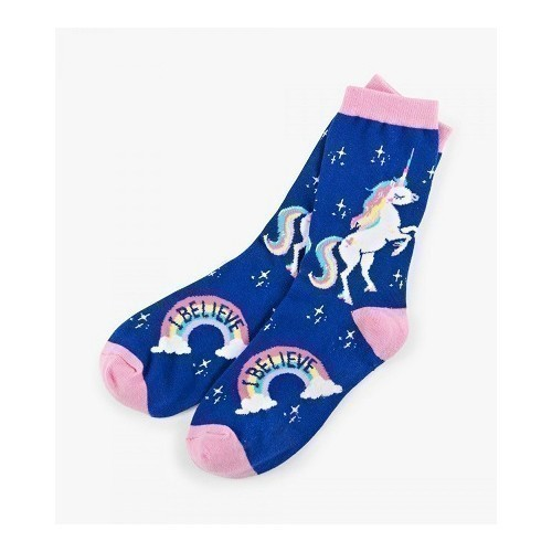 W Crew Socks Rainbow Unicorns Thumbnail
