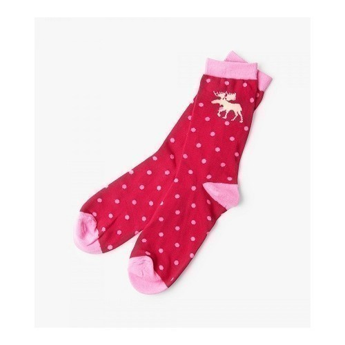 W Crew Socks Moose & Polka Dot Thumbnail