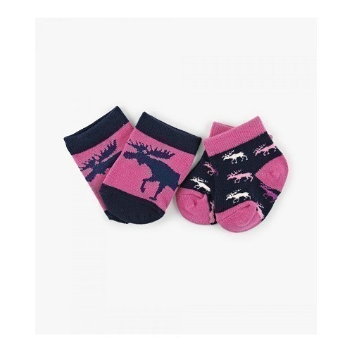 Baby Socks 2 pk Cottage Moose Thumbnail