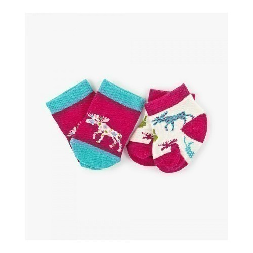 Baby Socks 2 pk Pattern Moose Thumbnail