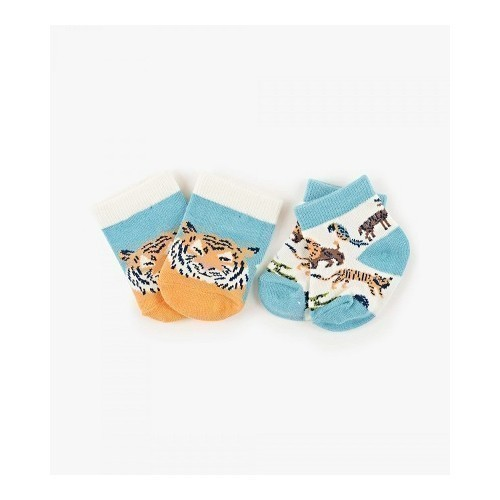 Baby Socks 2 pk Animal Safari Thumbnail